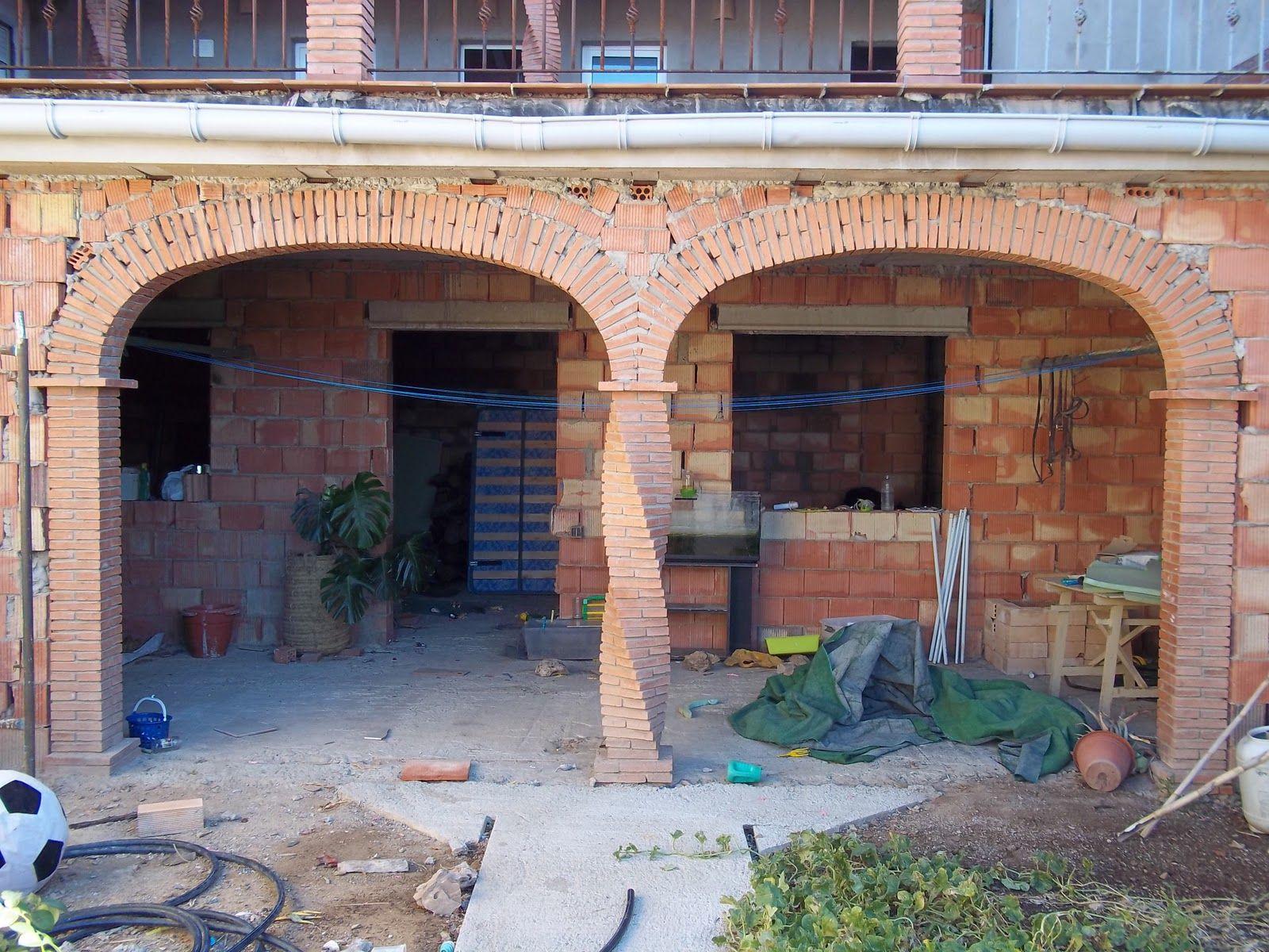 Casas de ladrillo rustico porche en ladrillo de hormign for Ideales fachwerk