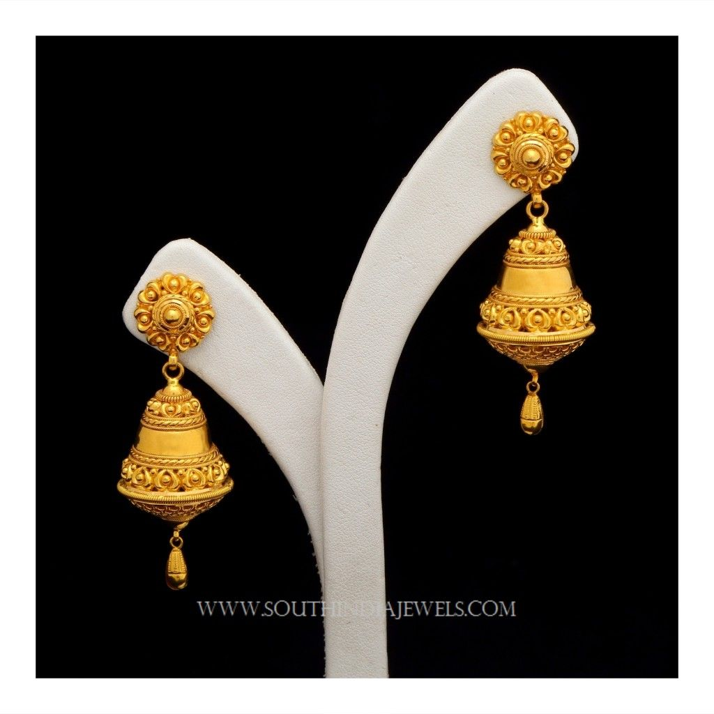 Gold Jhumka Designs With Weight And Price Indian Jewelry