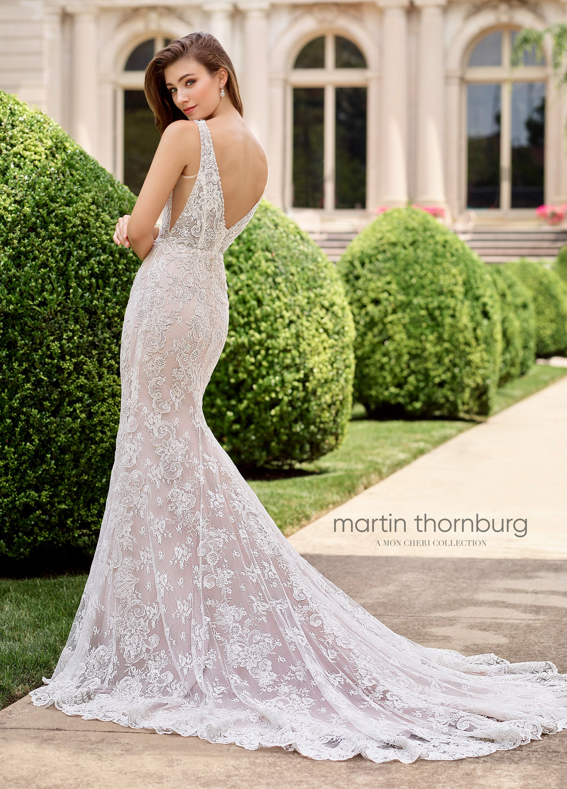 Martin thornburg wedding dresses cappella chapel train