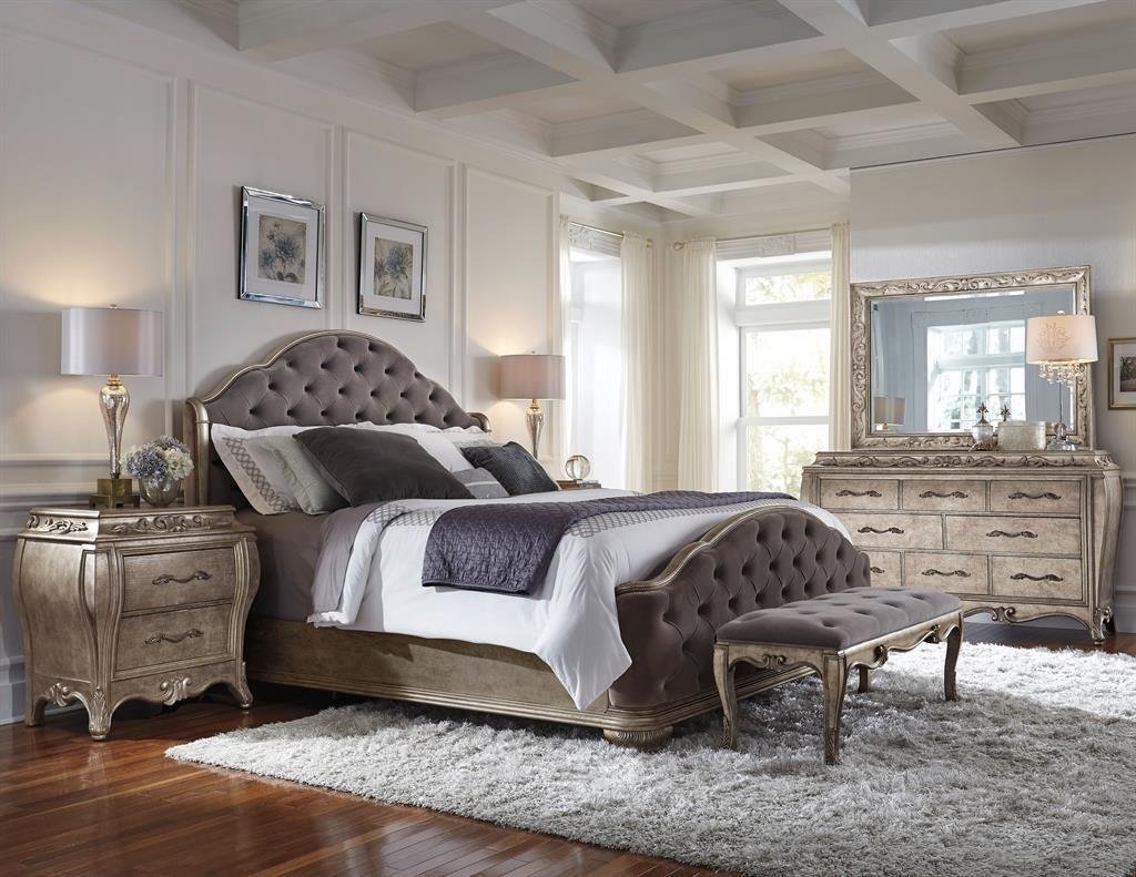 French Patina Bedroom Set Upholstered Bedroom Set King Size
