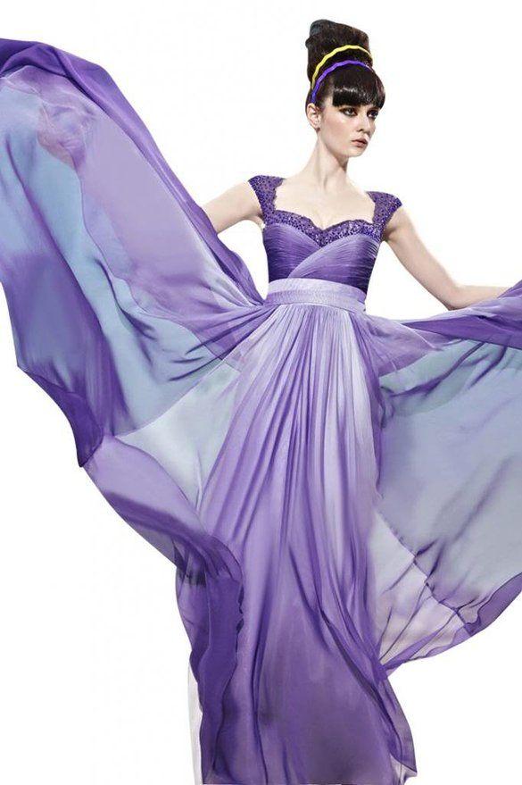 Passat Women\'s Lace Evening Gown Lavender Bridesmaid Dresses Size ...