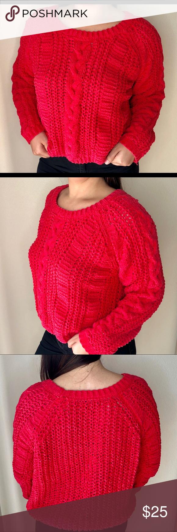 Photo of ZARA KNIT Bright pink chunky knit sweater Zara Knit. Bright pink chunky pull ove…