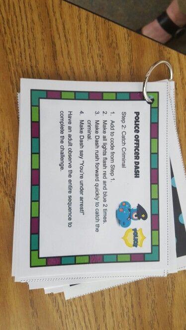 Dash Robot Task Cards Mentoring Programs Dash