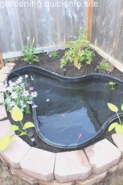 50 Small Garden Backyard Aquariums Ideas In 2020 Small Backyard Ponds Ponds Backyard Small Water Gardens