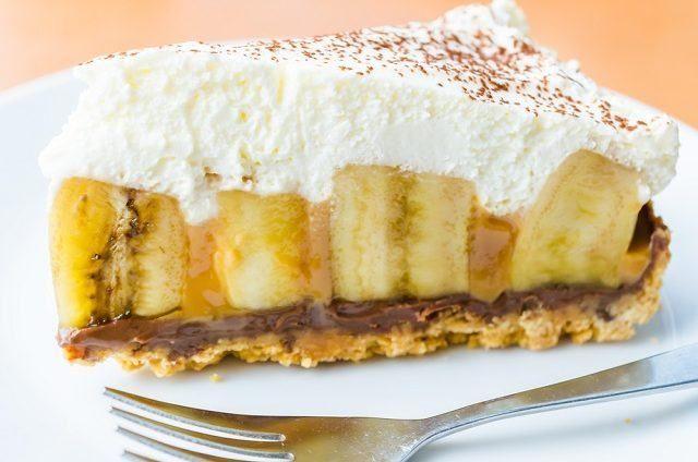 Sobremesa. Se surpreenda com essa deliciosa torta de banana com cacau