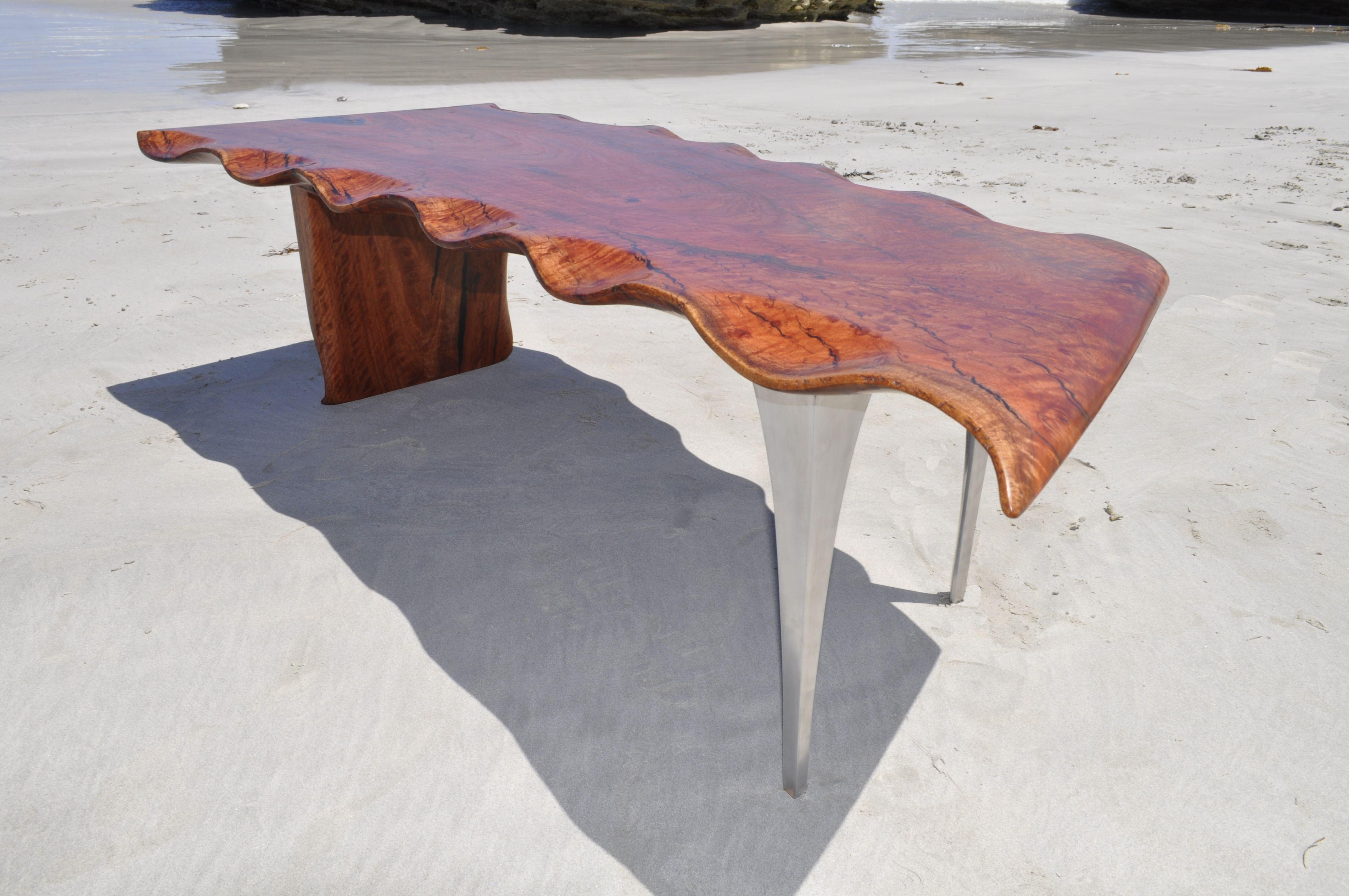 Ocean View Series Redgum Single slab of Redgum with waves
