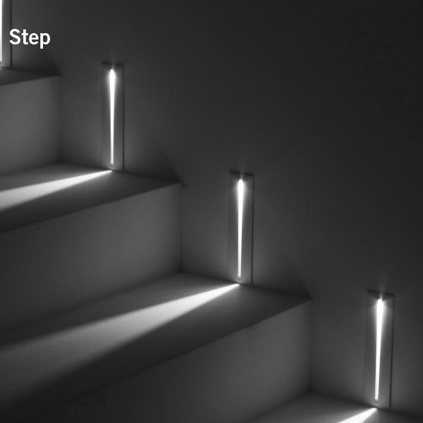 Recessed Wall Light Fixture Led Linear Outdoor Step Simes Illuminazione Parete Esterna Illuminazione Led Interni Illuminazione Scale