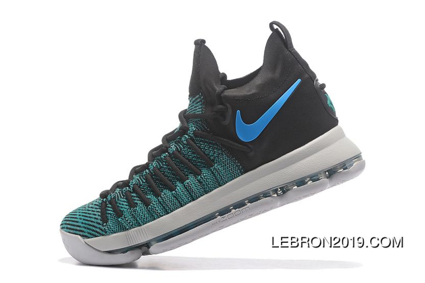 half off fa120 7b5e6 Discount Nike Zoom Kd 9 Elite Black/Clear Jade Basketball ...