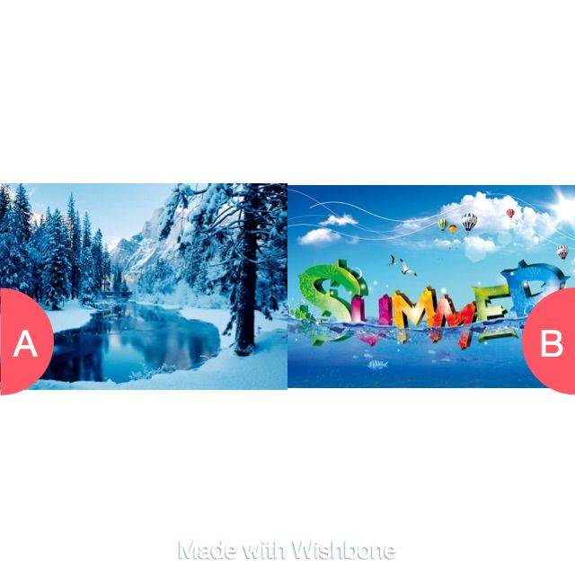 Winter or Summer Click here to vote @ http://getwishboneapp.com/share/17501476