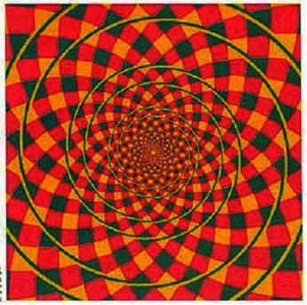 Una espiral? No, sólo círculos
