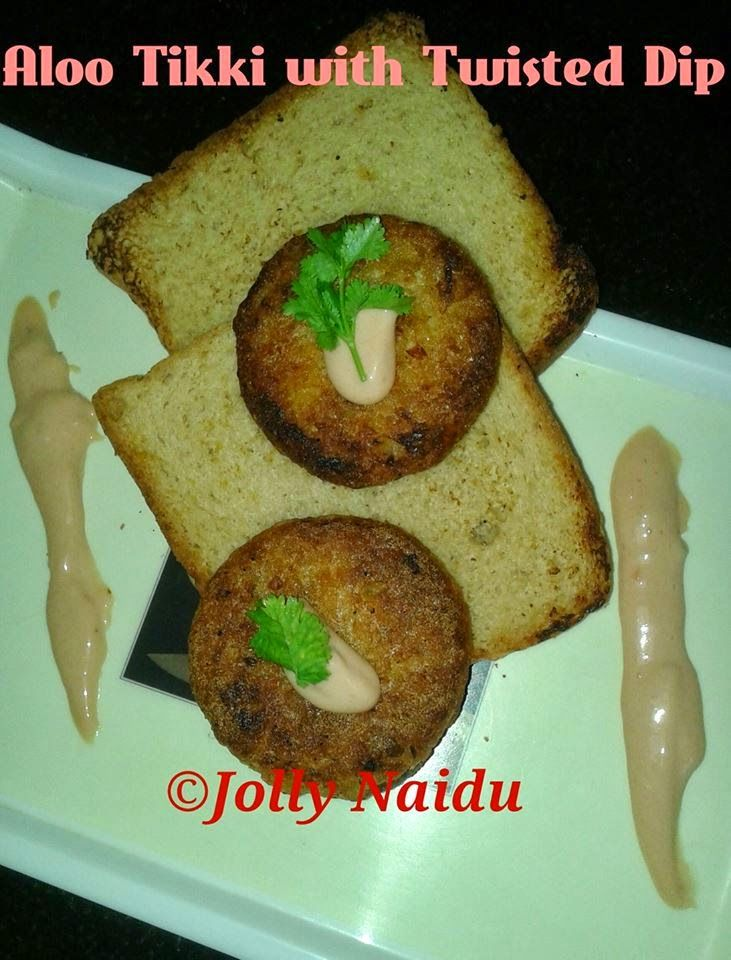 homemade aloo tikki with twisted dip with images homemade recipes international recipes on hebbar s kitchen recipes aloo tikki id=33467