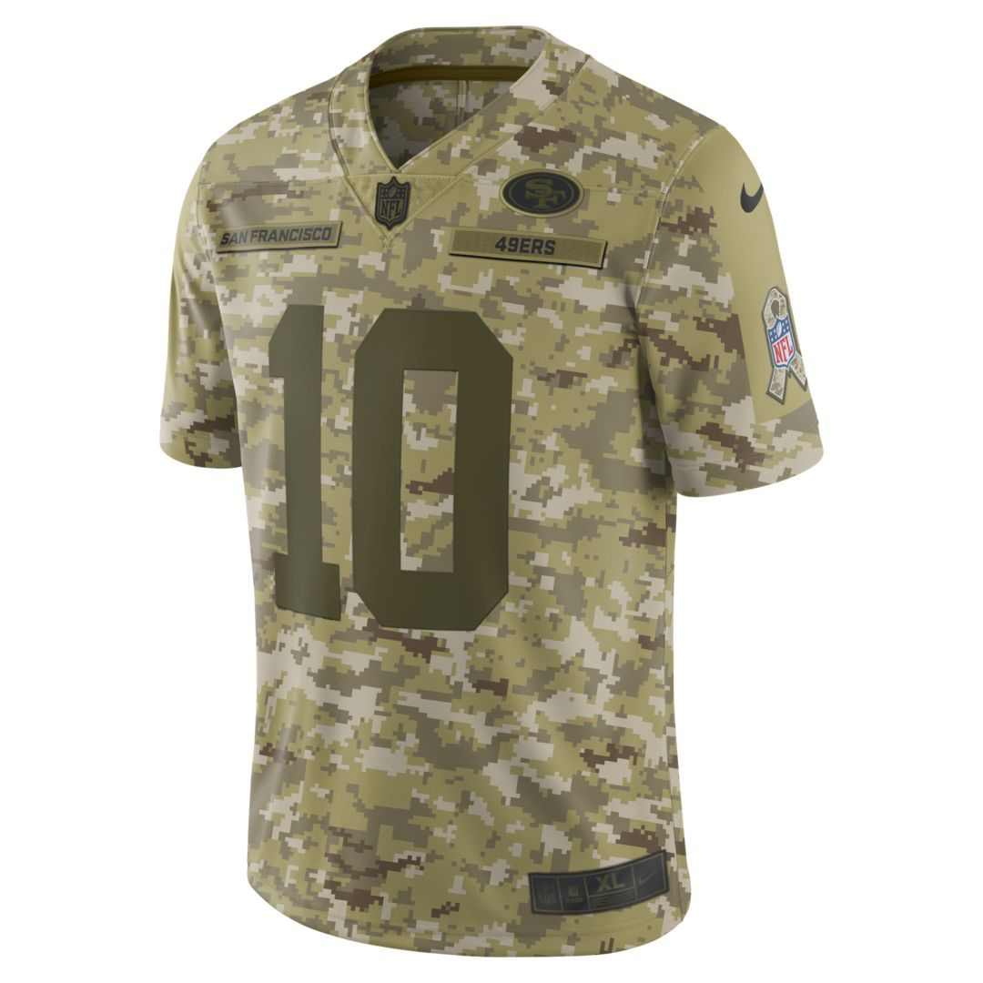 NFL San Francisco 49ers Salute to Service Limited Jersey (Jimmy Garoppolo)  Men s Football Jersey Size 2XL (Camper Green) f4e4ada63