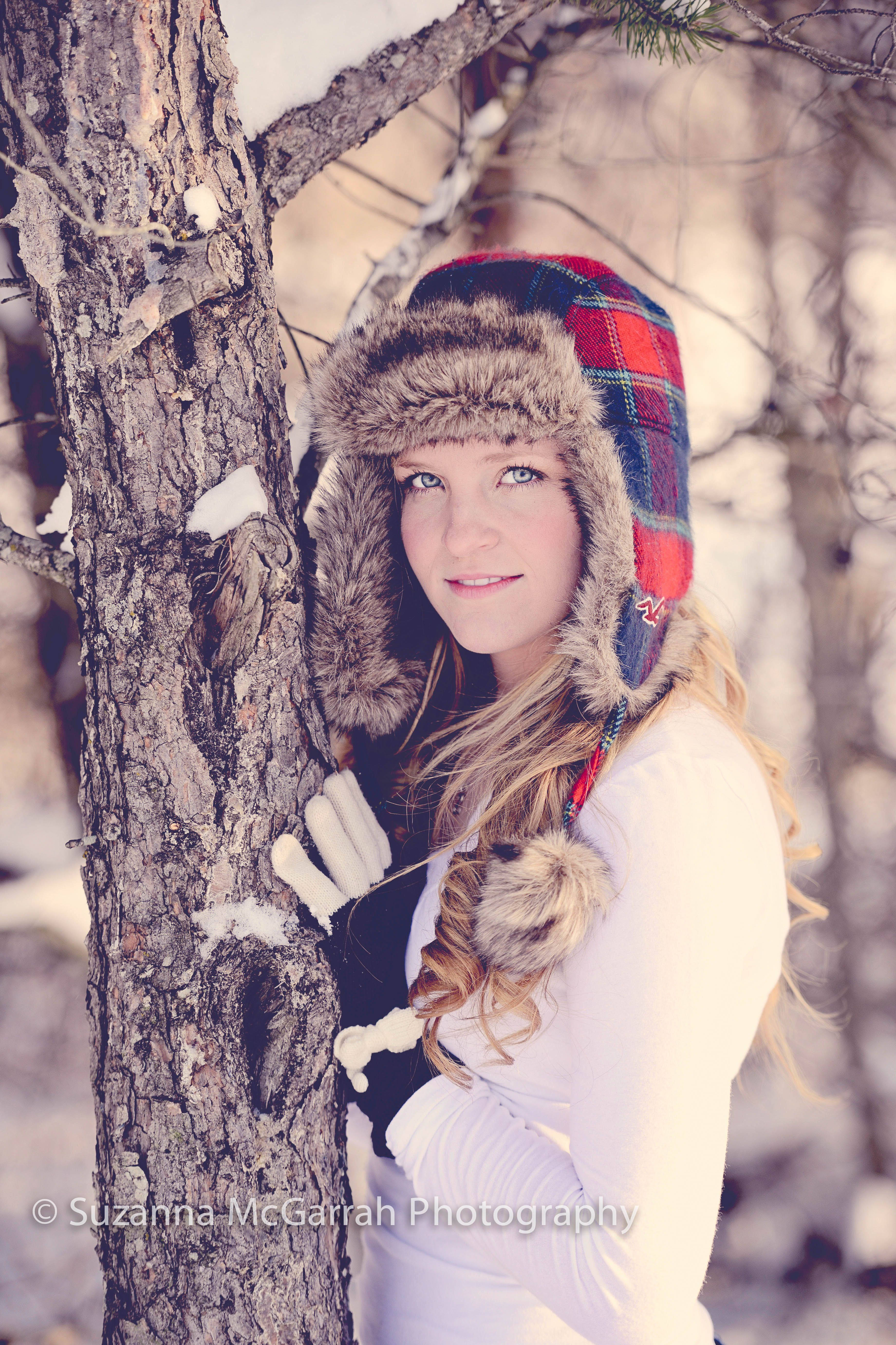 Snow Senior Shoot With Suzanna Mcgarrah Photography