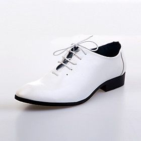 Leather Men's Wedding Flat Heel Comfort Oxfords Shoes(More Colors)
