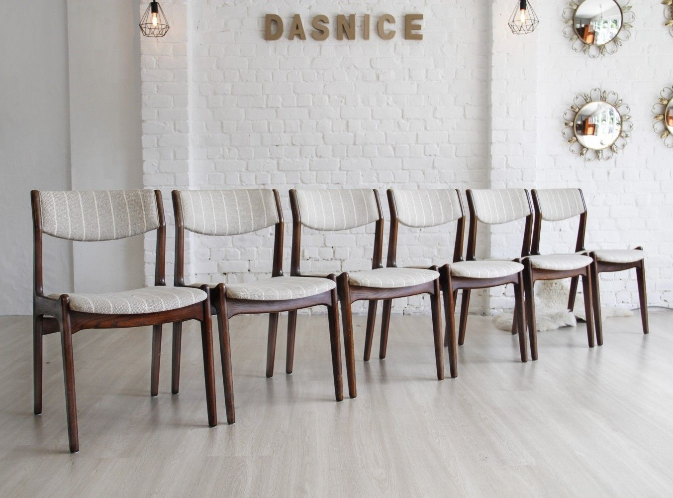 6 dinner chairs from the sixties by unknown designer for unknown producer