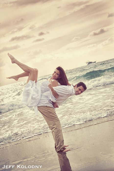 Cool Pose From A Beach Engagement Shoot In Palm Beach Fl Con
