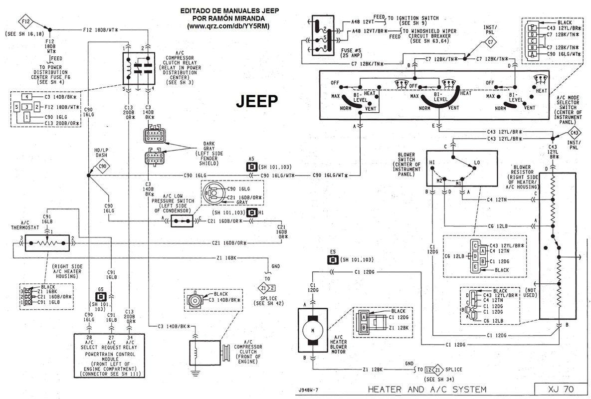 Diagrama Electrico Y Conectores Del Motor Jeep Xj 1991 1996