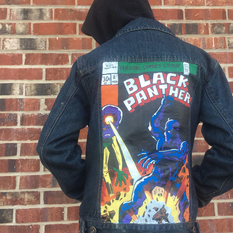 Black Panther Inspired Custom Denim Jacket All Things Marvel