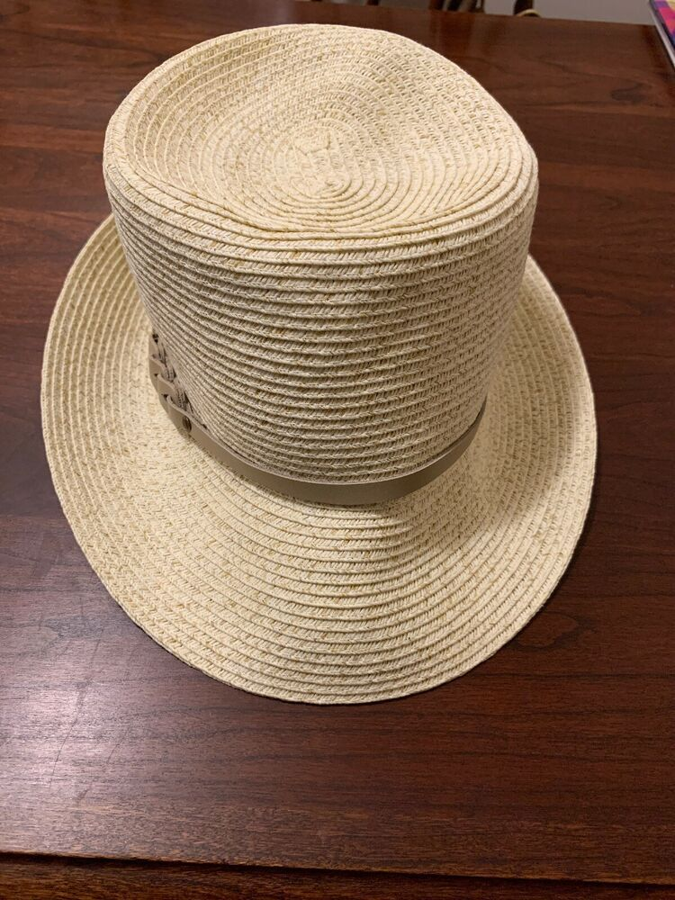 950e3d5ce1ce7 Womens Nine West Hat Summer Straw With Leather Band  fashion  clothing   shoes