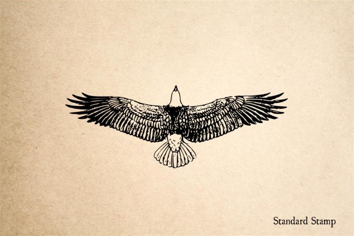 Eagle Soaring Rubber Stamp