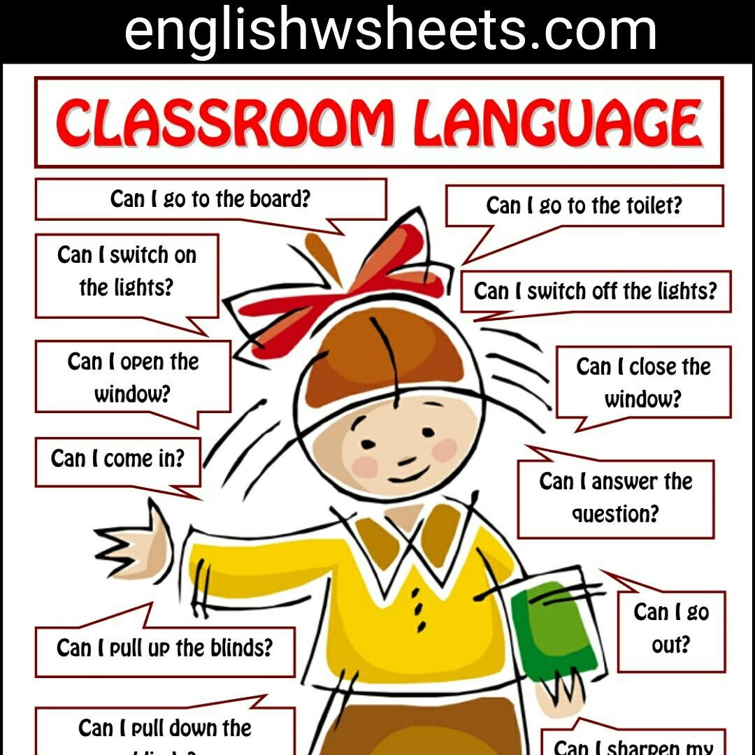 Classroom Language For Students Esl Printable Poster