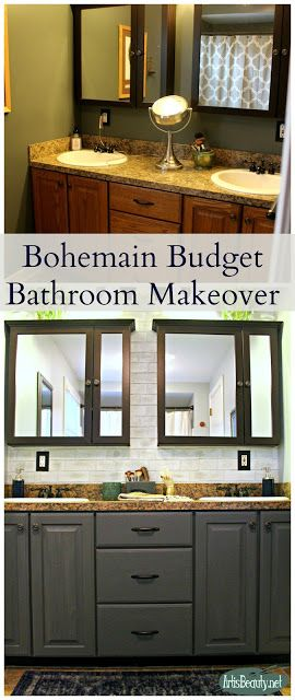 Bohemian Budget  Bathroom Makeover-Art Is Beauty-Featured at the Home Matters Linky Party #123