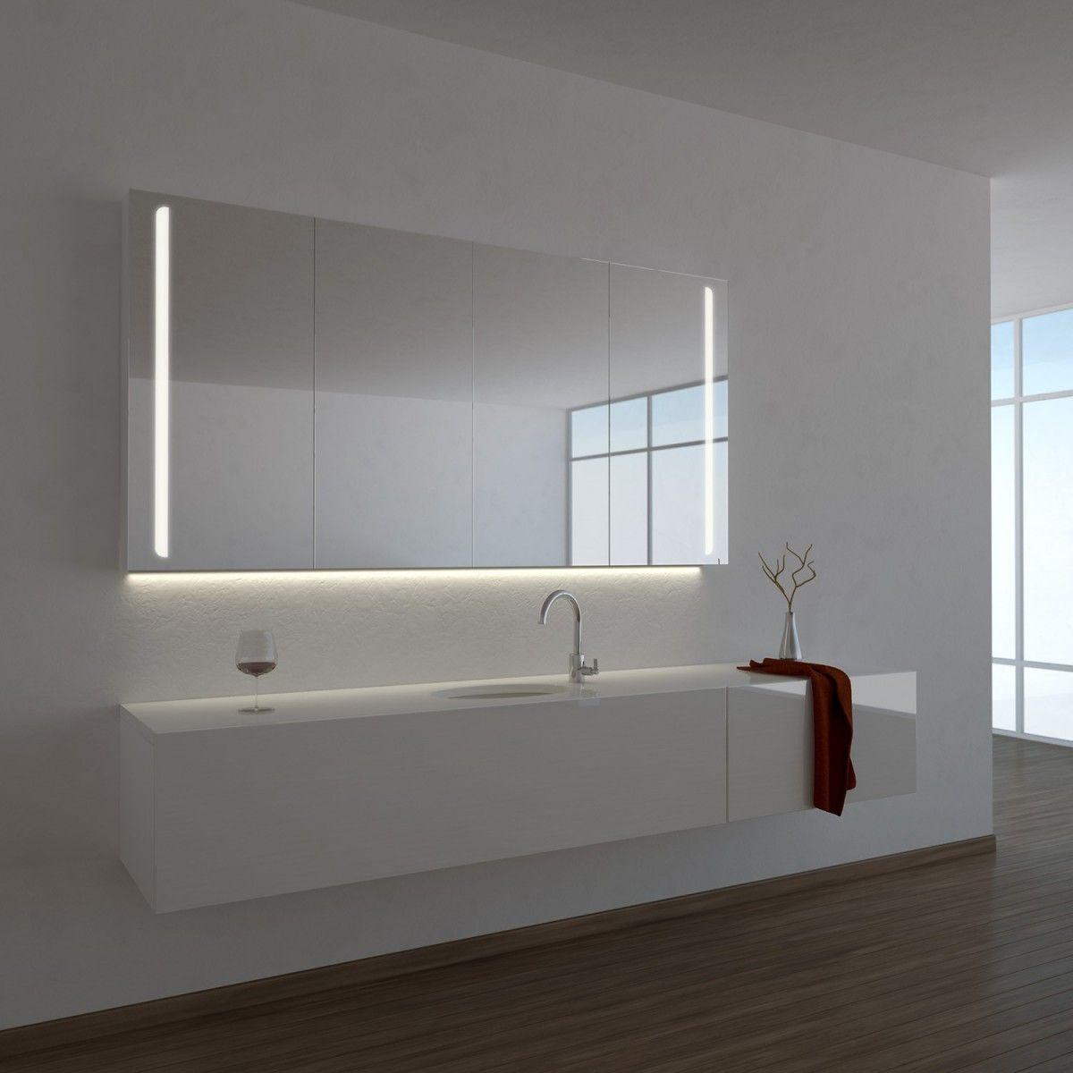Spiegelschrank Ogrel Mit Led Beleuchtung In 2020 Spiegelschrank Spiegelschrank Bad Bad Einrichten