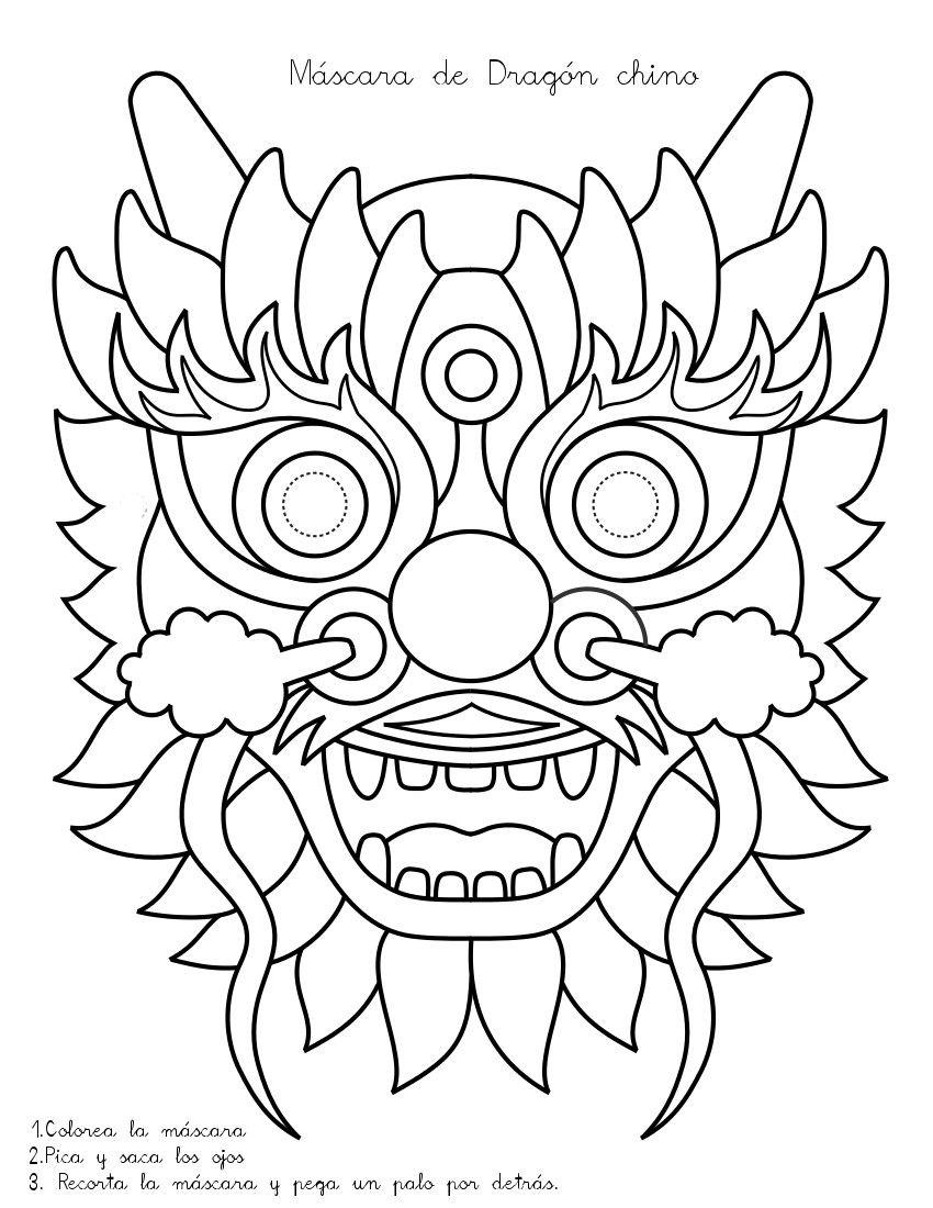 Qué puedo hacer hoy?: Máscara de dragón chino | Manualidades en el ...