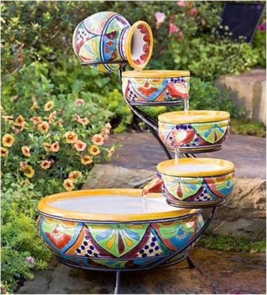 Outdoor Ceramic Solar Fountain Your Own Garden Waterfall