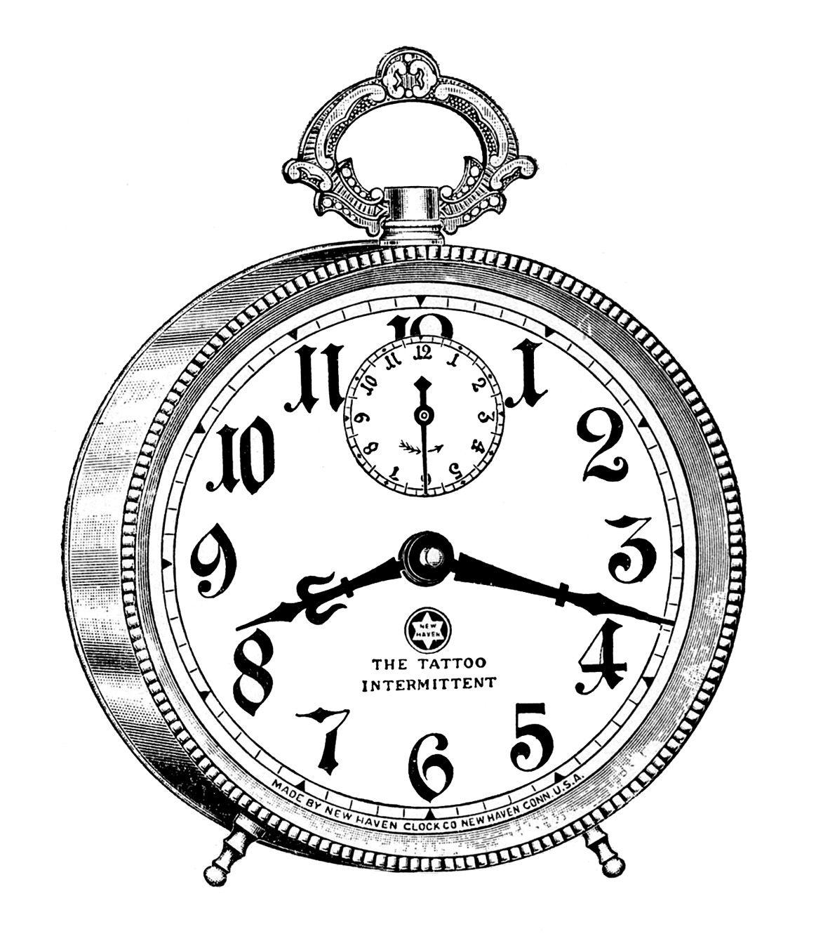 vintage clip art fancy alarm clock steampunk vintage clip