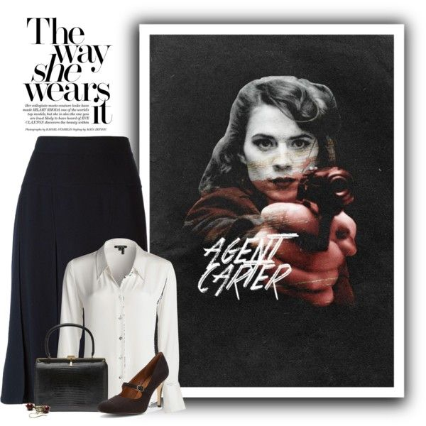 Agent Carter by ameve on Polyvore featuring NIC+ZOE, Chanel and Ann Marino