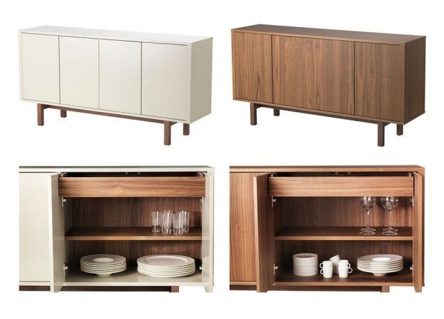 Ikea Walnut Credenza : Ikea stockholm sideboard review making it lovely dining room