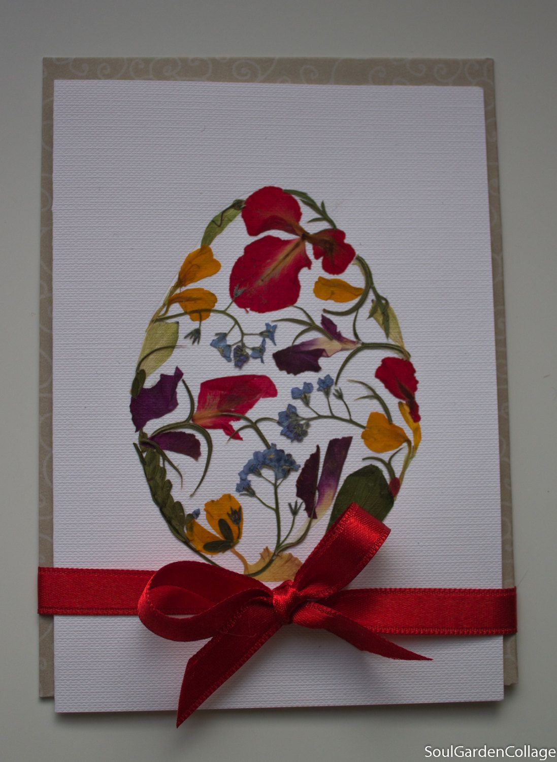 Easter greeting card ooak easter egg pressed flowers art botanical easter greeting card ooak easter egg pressed flowers art botanical art greeting card a6 easter card kristyandbryce Image collections