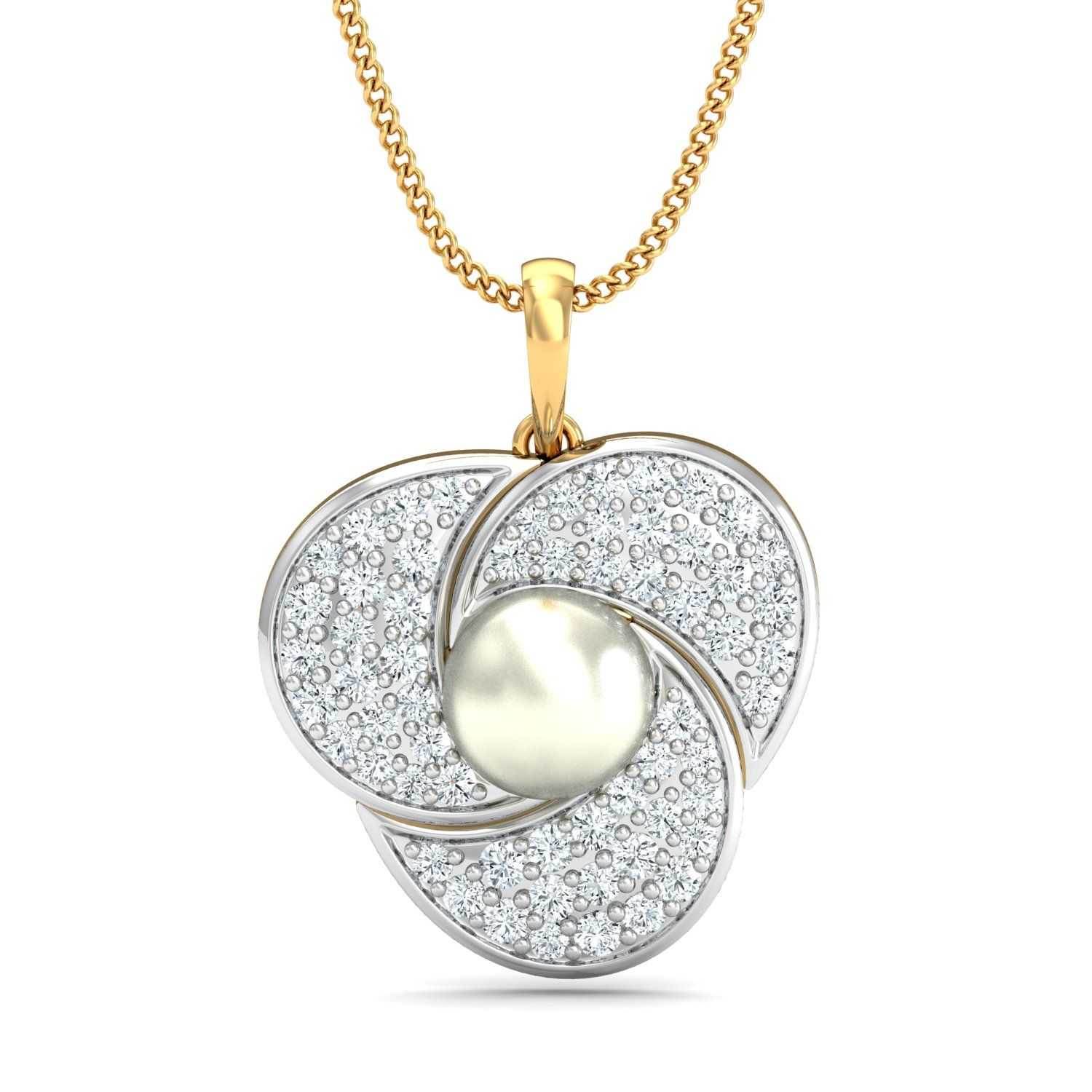 gold pendant designs with price 0.474 ct natural diamond Gold ...