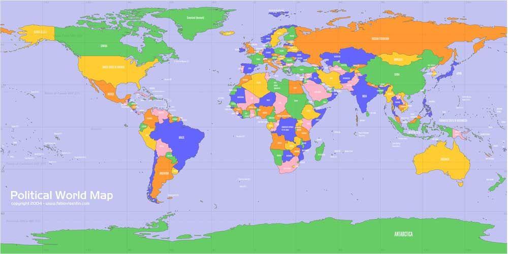 Cartina Mondo Politico.Planisfero Politico Grande Formato Mappa Del Mondo Mappa Immagini