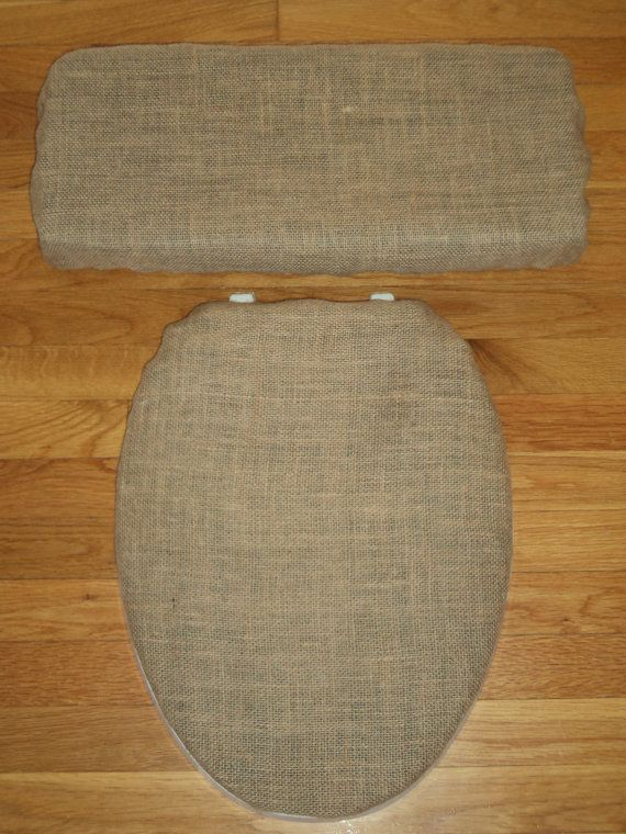 Burlap Toilet Seat Cover Set Toilet Seat Covers