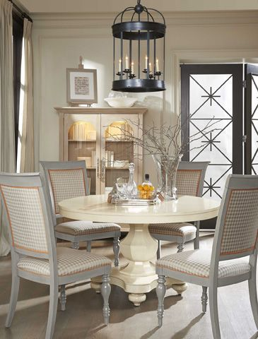 The Base Of This Drexel Heritage Acclamations Elan Dining Table Is Prepossessing Drexel Heritage Dining Room Inspiration Design
