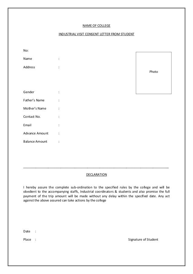 Consent letter for tour letter Pinterest - new consent letter format pdf