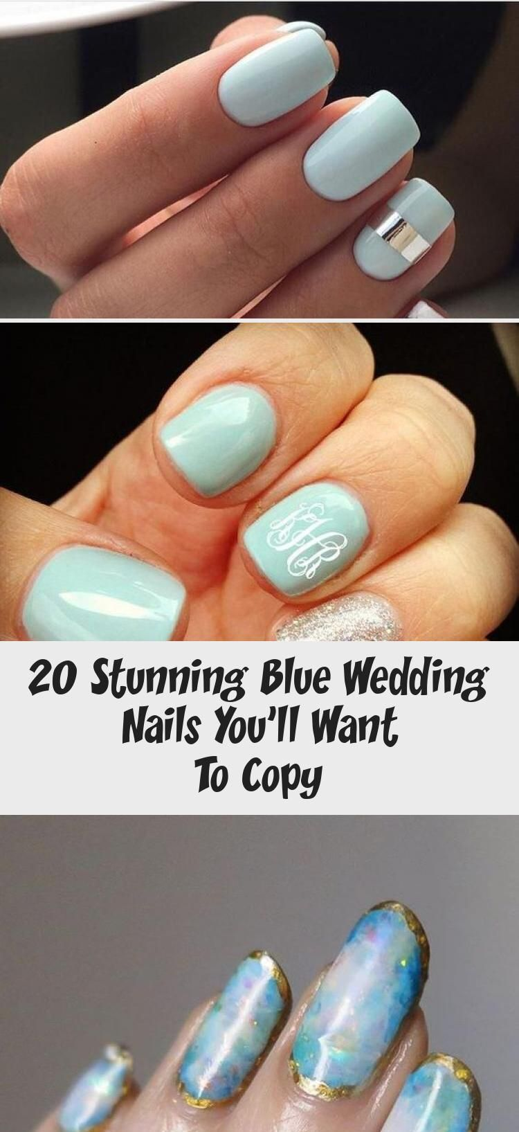 Photo of 20 Stunning Blue Wedding Nails You'll Want To Copy – Nail