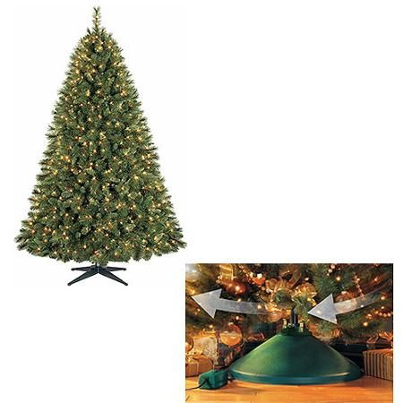 Your Choice 7.5' ft Pre-Lit Christmas Tree and Rotating Stand ...