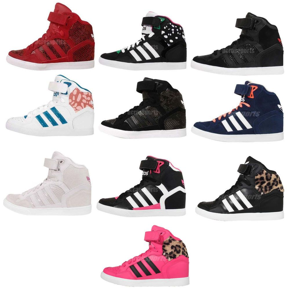 factory price 441eb 6b78a Adidas Originals Extaball Up W Womens Wedge Sneakers Hidden Heel Shoes Pick  1 in Clothing, Shoes   Accessories, Women s Shoes, Athletic   eBay