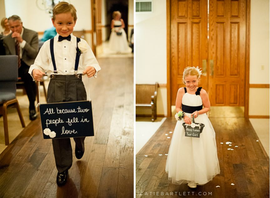 Wedding Ring Bearer Trends Signs Instead of Pillows Ring bearer