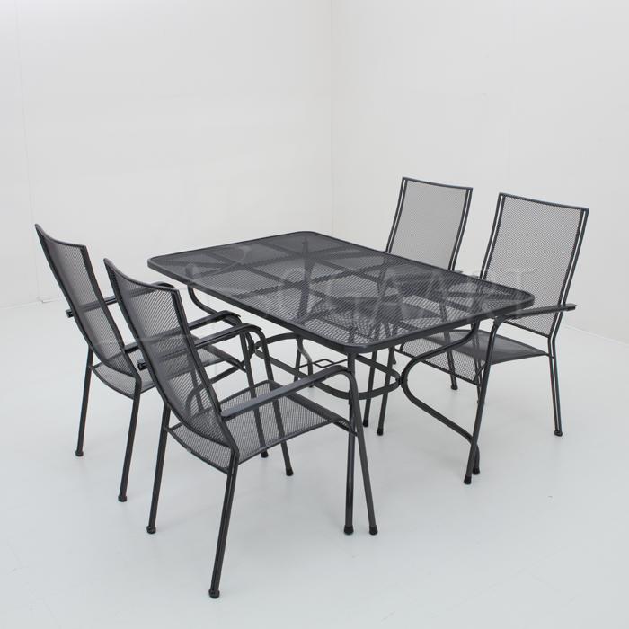 Kettler Quito met Strekmetalen tafel - 145x90cm