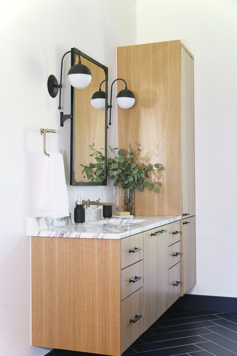 A Cozy Modern Spa For Two The Delaware Project Master Bath Reveal Cbc Builds Modern Spa Master Bath Kitchen And Bath