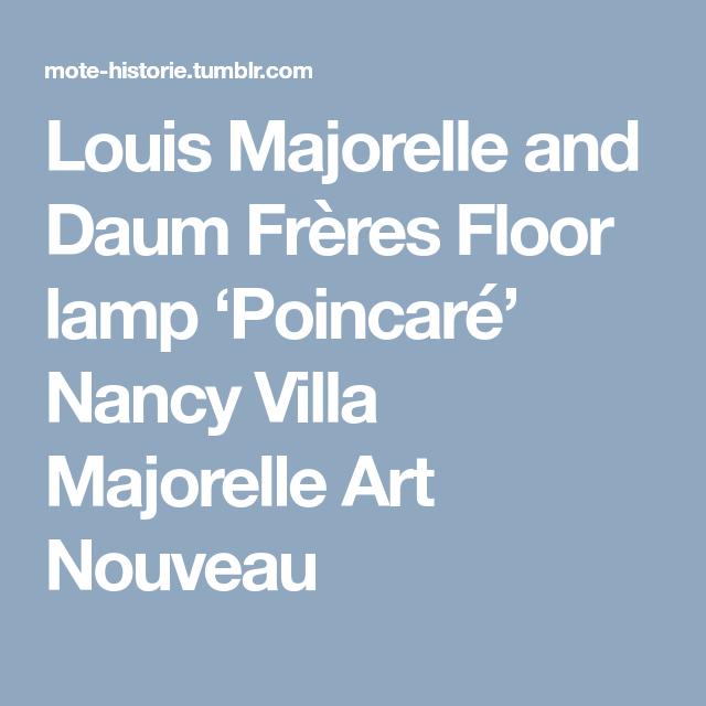 Louis Majorelle and Daum Frères Floor lamp Poincaré