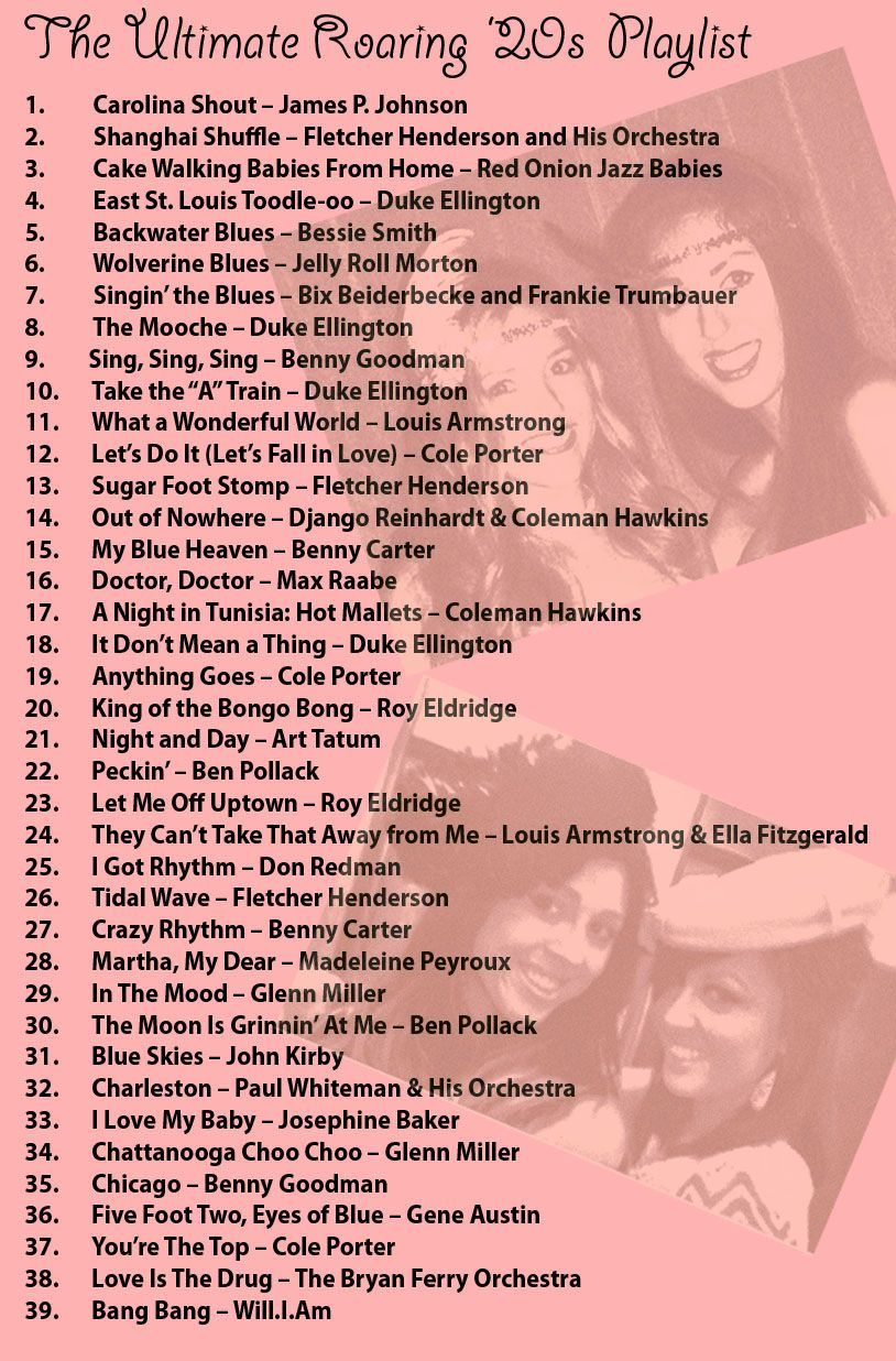 This Roaring 1920s music playlist features some of the most ...