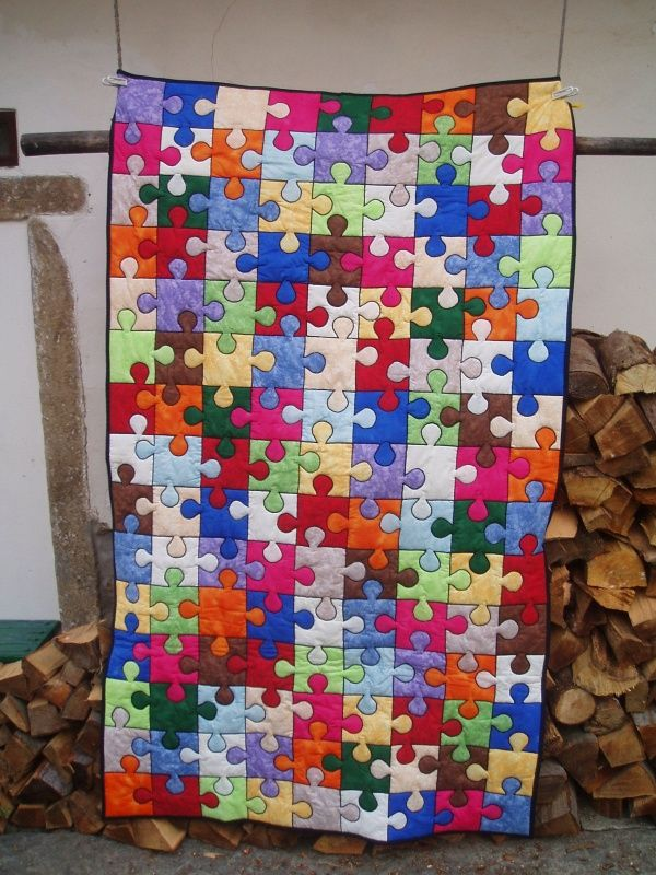 What A Beautiful Quilt Also The Symbol For Autism Sewing