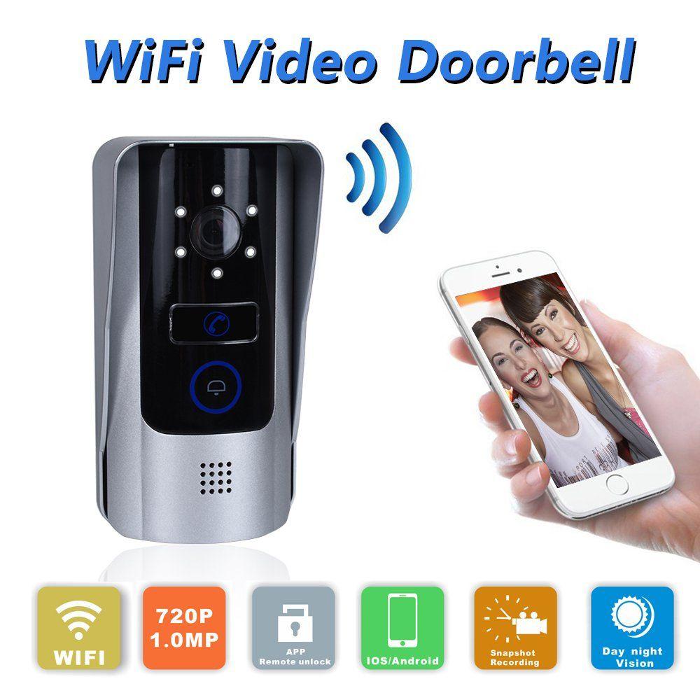 Wifi Doorbell Remote Unlock Video Doorbell Camera Video Door Phone With  Unlock Function For Android IOS Smart Phone Tablet