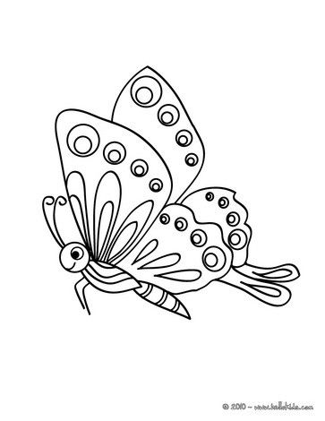 14+ Butterfly black and white coloring page HD