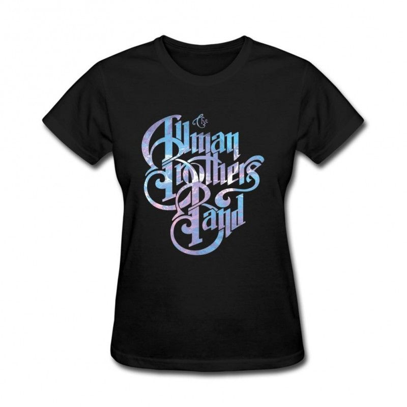 The Allman Brothers Band Blue And Purple Logo T Shirts